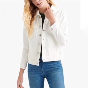 Lucky Brand Tomboy Trucker Denim Jean Jacket White